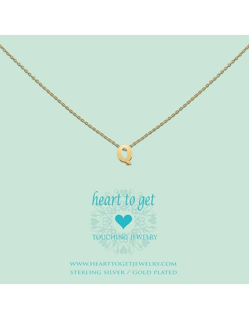Heart to get Heart to Get  -  Heart For Initials L158INQ13G -  letter Q - gold - Hanger