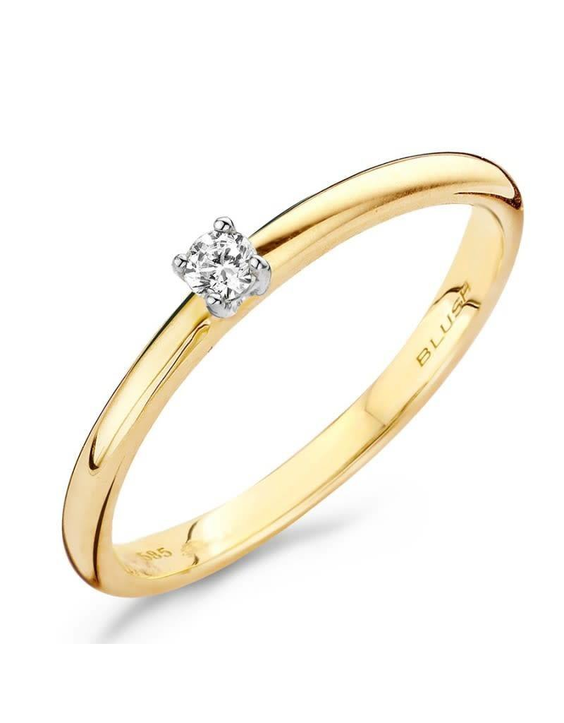 Blush 1601BDI/54 ring 14 krt geelgoud met diamant maat 54
