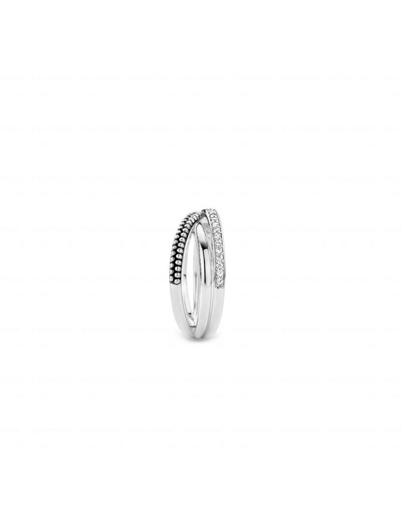 Ti Sento Milano  Ring 12022ZI - Maat 54 (17,25 mm) - Gerhodineerd Sterling Zilver