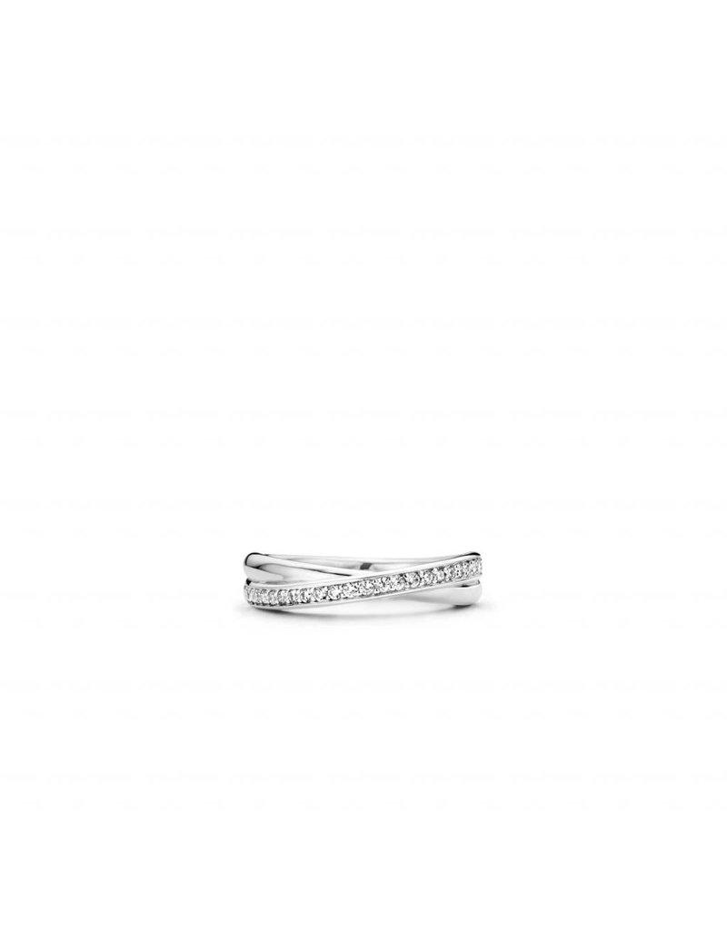 Ti Sento Milano ring 1953ZI - Maat 54 (17,25 mm) - Gerhodineerd Sterling Zilver