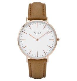Cluse Cluse - Horloge - CL18011- La Boheme Rose gold white/Caramel