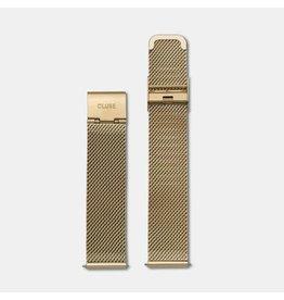 Cluse CLS046 16 mm horlogeband staal in goud kleur