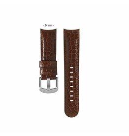 TW Steel TWB127 24 mm horlogeband bruin leer croco