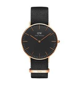 Daniel Wellington Daniel Wellington - DW00100150  - Classic Lady 36 mm Black Cornwall horloge
