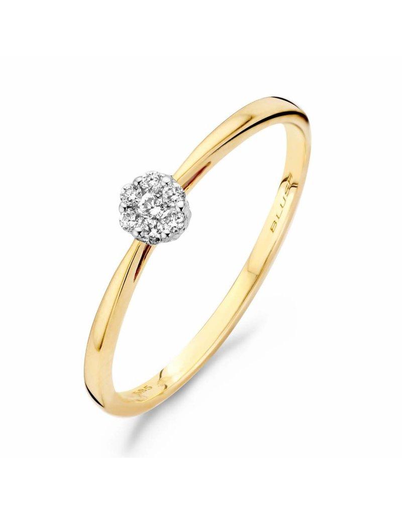 Blush 1609BDI/54 ring 14 krt geelgoud met diamant maat 54