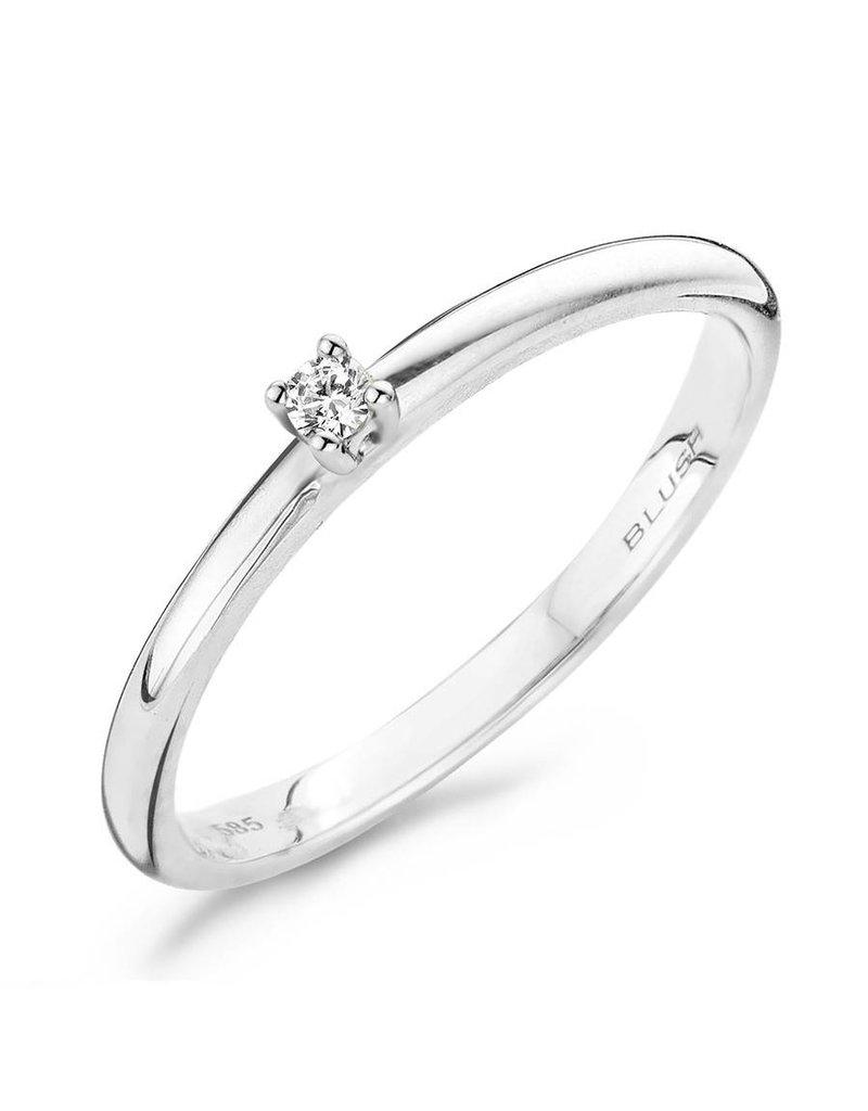 Blush 1600WDI  witgouden ring  met Diamant maat 52  (16.50)mm