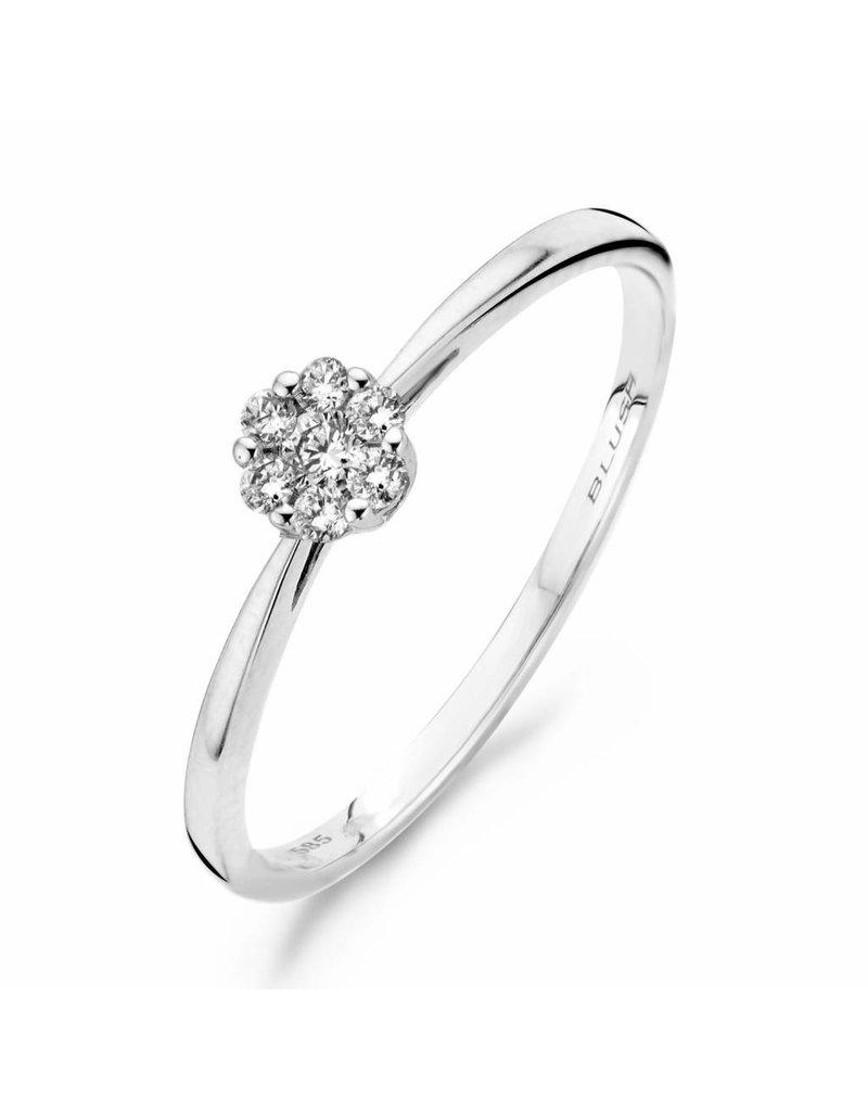 Blush 1610WDI/54 ring 14 KRT witgoud met diamant maat 54