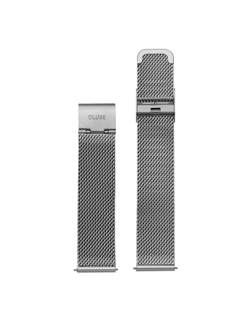 Cluse CLS345  16 mm horlogeband Mesh Staal