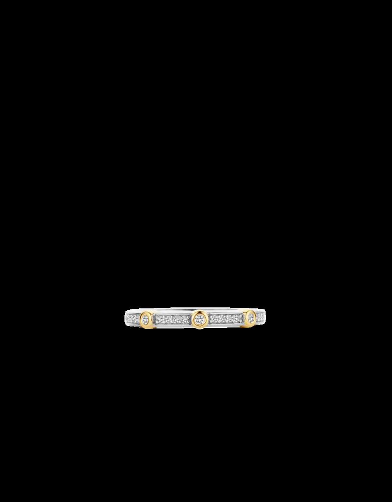 Ti Sento Milano Ti Sento Milano 12149/56 Ring zilver/Goud verguld met zirkonia