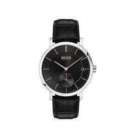 Hugo Boss Hugo Boss HB1513638 horloge Corporal leer zwart