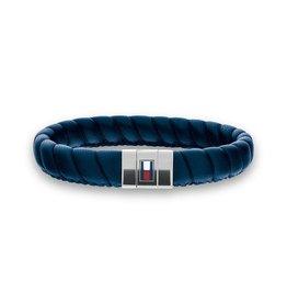 Tommy Hilfiger Tommy Hilfiger TJ2701058 armband leer blauw