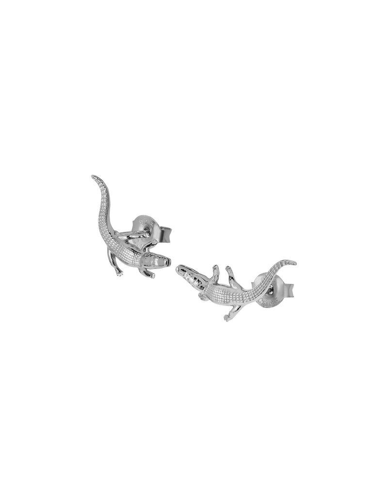 Cluse CLJ52018 oorbellen Force Tropicale Alligator zilver