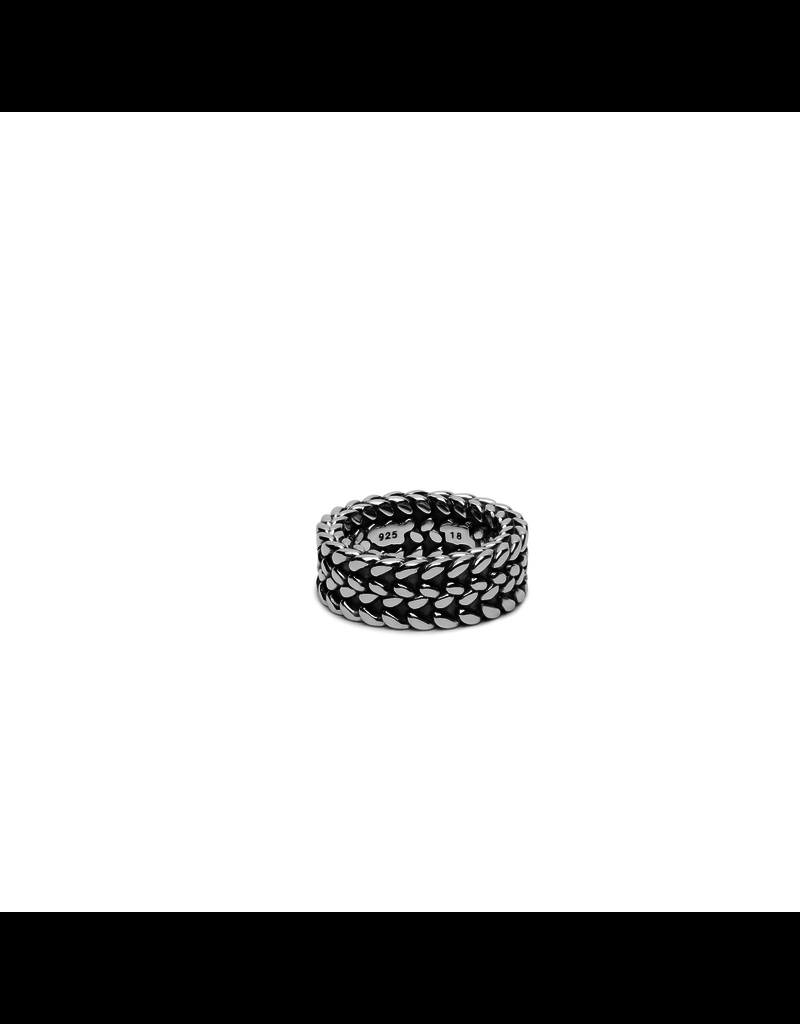 Buddha to Buddha 193 Ring zilver Julius - Maat 17.00 mm (53)