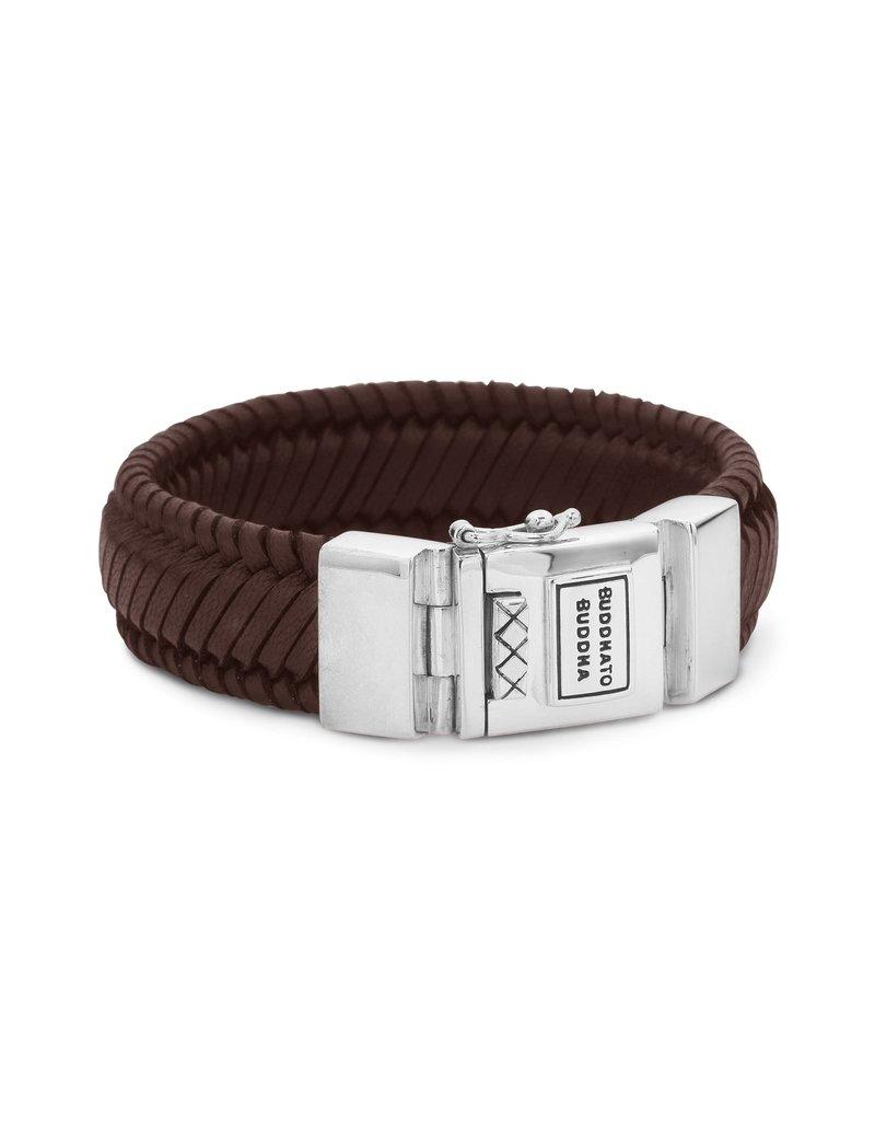 Buddha to Buddha BtoB 783BR E Armband Edwin Leather Brown - Maat E