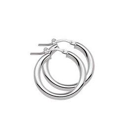 Huiscollectie - Zilver Kasis 13.22431oorbellen zilver creool 24x3mm