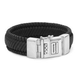 Buddha to Buddha BtoB 783BL F Edwin Leather Bracelet Black Men 001J057830302