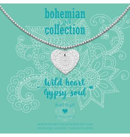 Heart to get HTG BO272NBH17S Ketting Beads 44cm Zilver, Big Heart