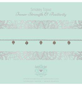 Heart to get HTG B338DGS16S Armband Silver Inner strength & positivity smokey Topaz