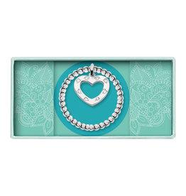 Heart to get HTG BO260ROH17S Elastische ring beads, zilver, open hart
