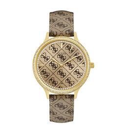 Guess Guess W1229L2 Horloge Ladies trend Goldplated leren band
