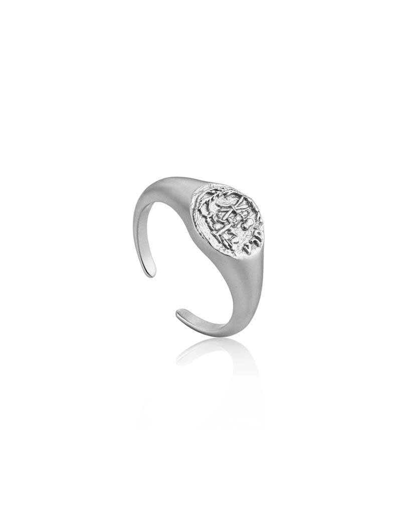 ANIA HAIE JEWELRY AH R009-03H Ring Signet Zilver