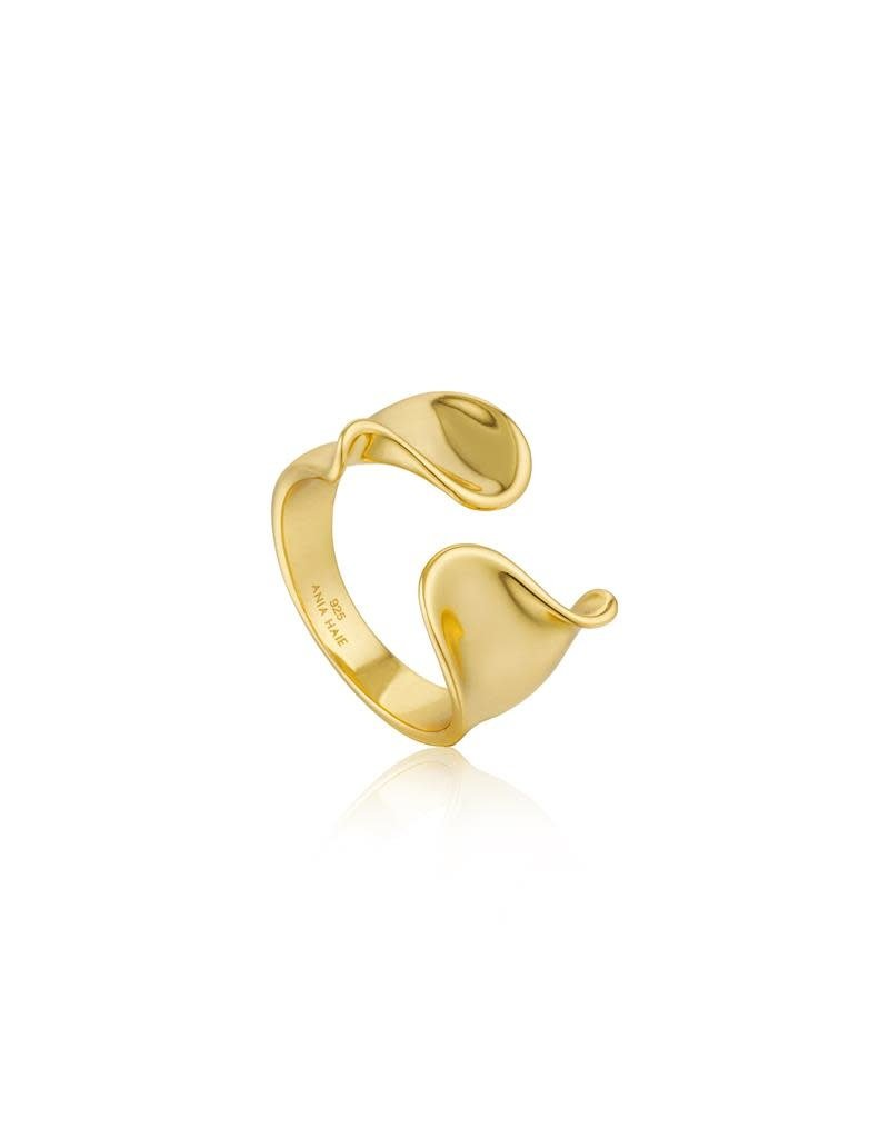 ANIA HAIE JEWELRY AH R012-03G Ring Twister Twist Wide  Gold