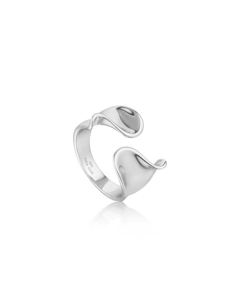 ANIA HAIE JEWELRY AH R012-03H Ring Twister Twist Wide Zilver