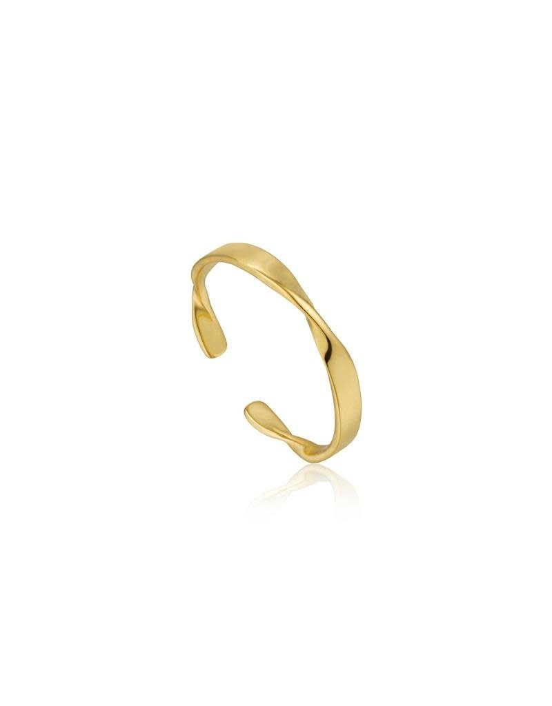 ANIA HAIE JEWELRY AH R012-04G Ring Twister Helix Thin Gold