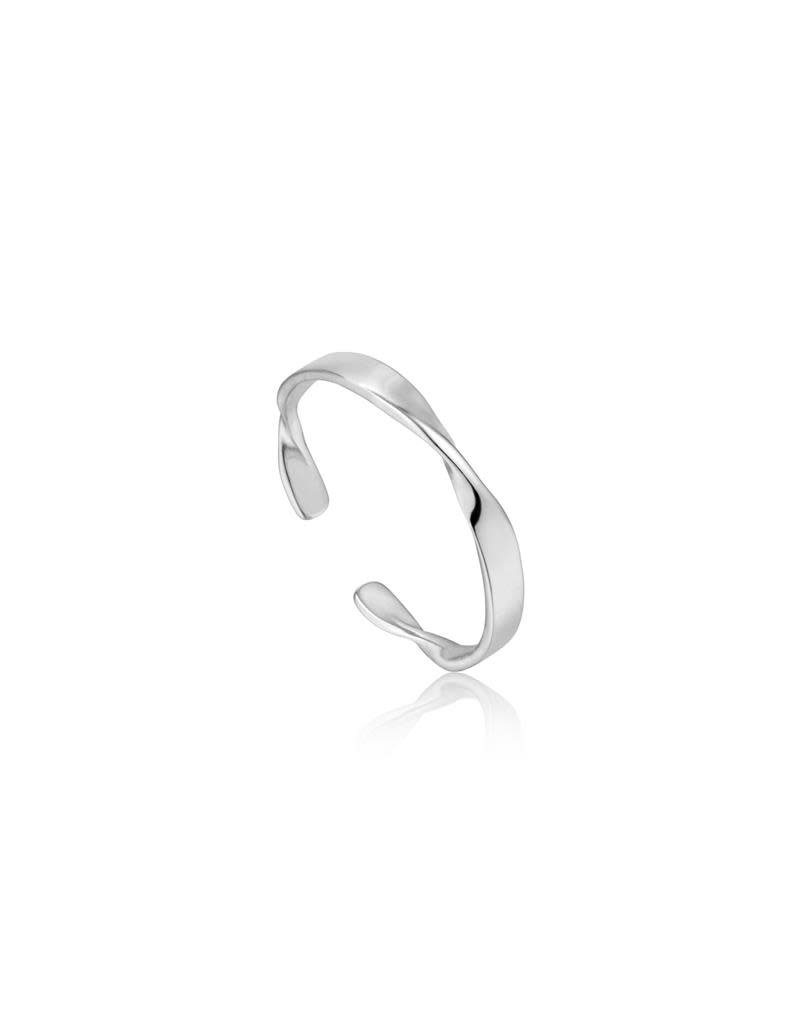 ANIA HAIE JEWELRY AH R012-04H Ring Twister Helix Thin Zilver
