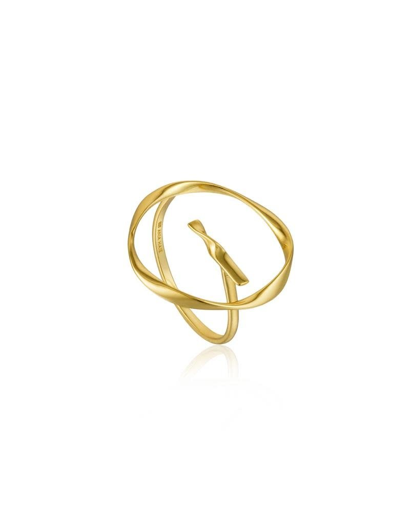 ANIA HAIE JEWELRY AH R015-01G Ring Twist Circle Gold