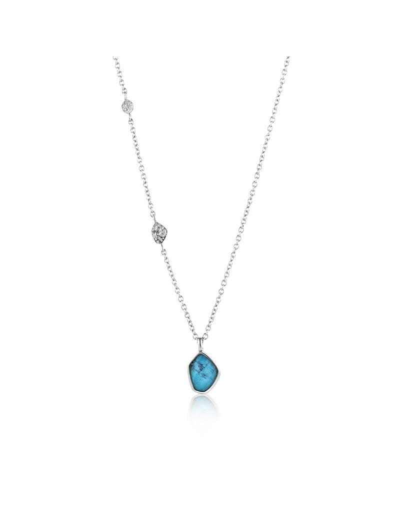ANIA HAIE JEWELRY AH N014-02H Ketting Zilver met Turquoise bedel