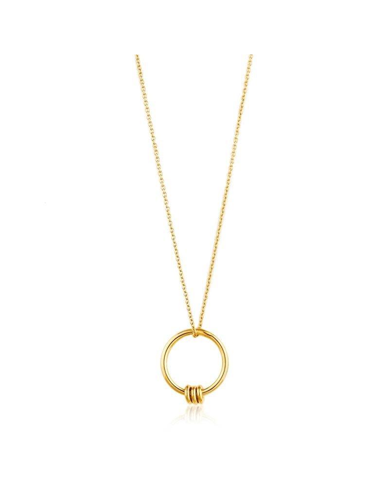 ANIA HAIE JEWELRY AH N002-01G kettig Circle Zilver Goud kleurig