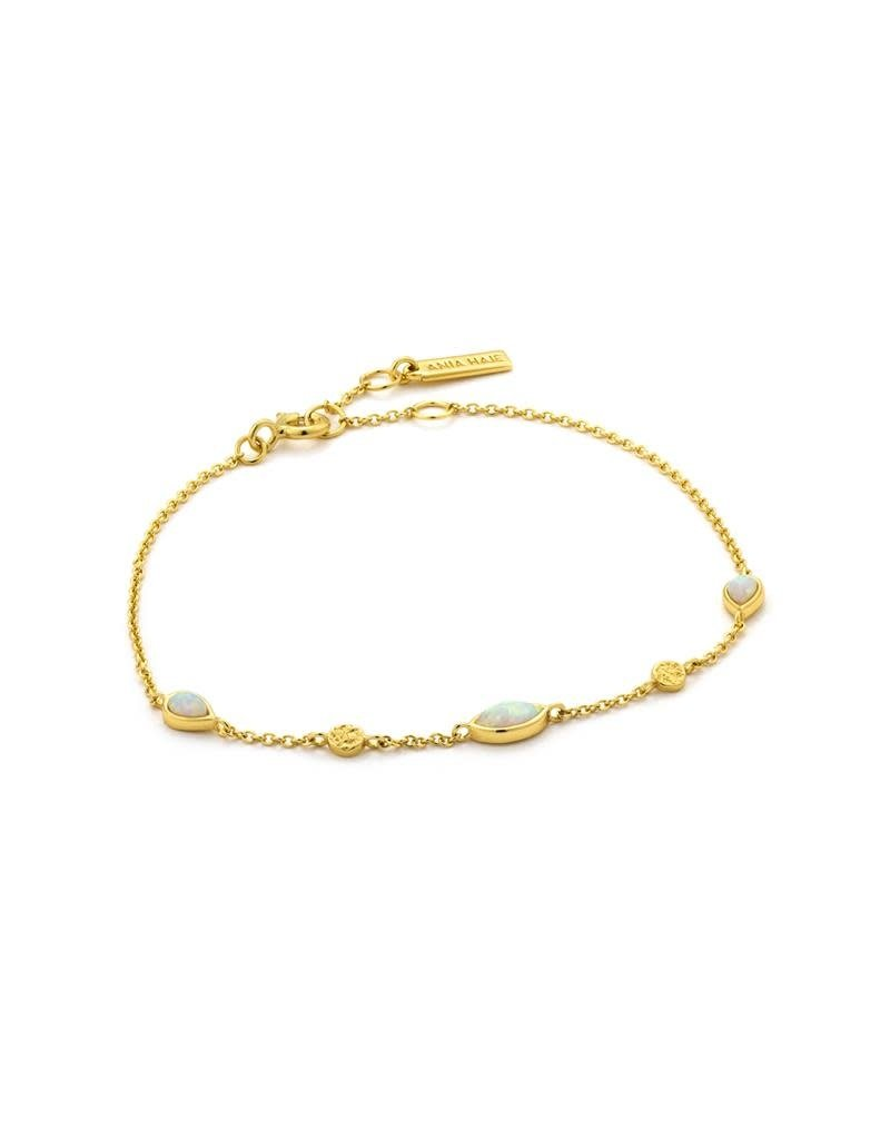 ANIA HAIE JEWELRY AH B014-02G Armband zilver Opaal Goudkleurig