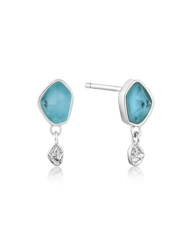 ANIA HAIE JEWELRY AH E014-01H Oorbellen Zilver Turquoise drop