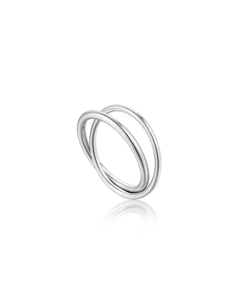 ANIA HAIE JEWELRY AH R002-01H-56 Ring Zilver double wrap