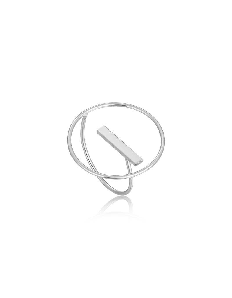 ANIA HAIE JEWELRY AH R002-04H Ring Zilver Circle 50-58