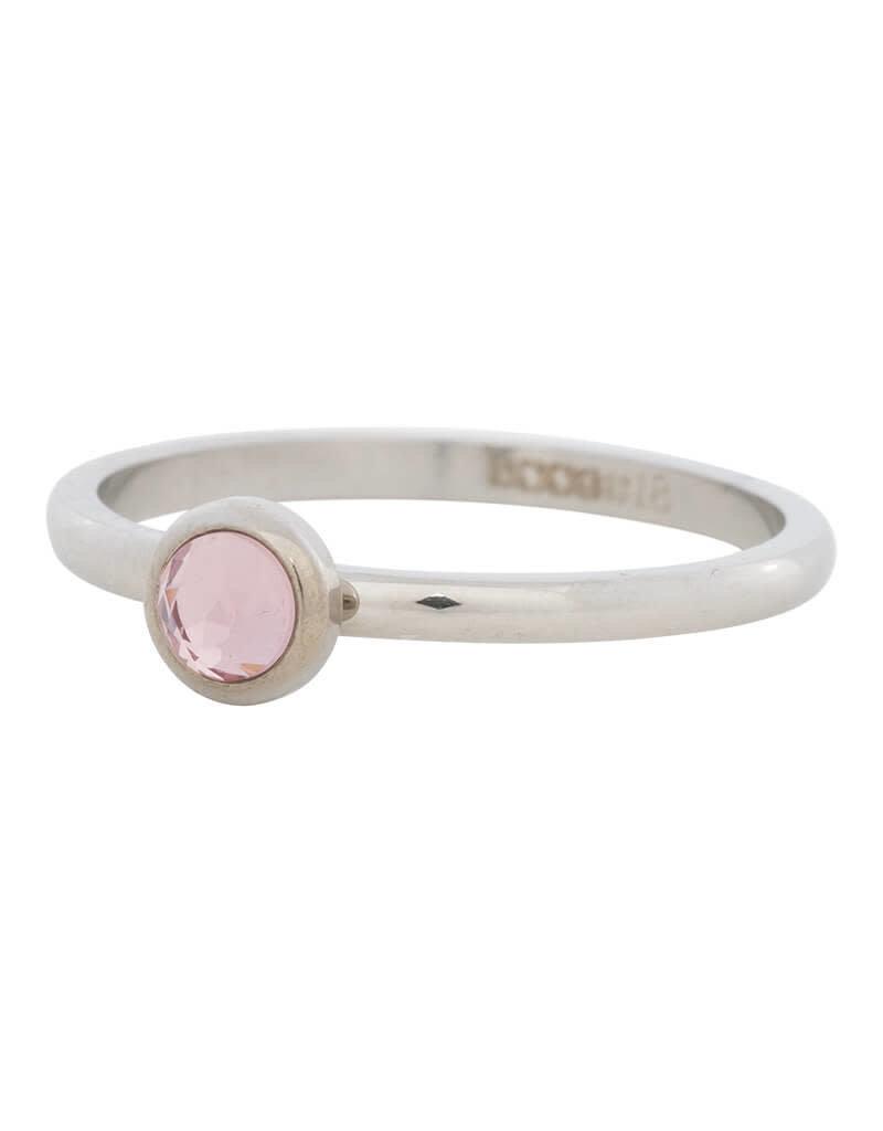 iXXXi iXXXi R04107-03 17 Ring zilver Zirconia pink