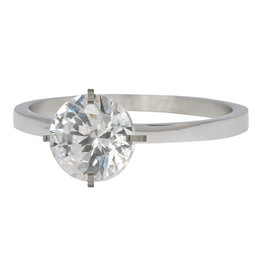 iXXXi iXXXi R04801-03 20 Ring Secure Crystal Zilver kleur