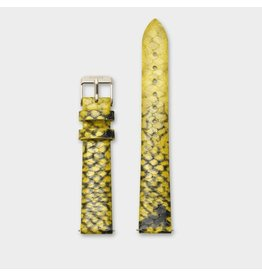 Cluse Cluse CLS385 Horlogeband Yellow Python 16MM
