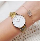 Cluse  CLS385 Horlogeband Yellow Python 16MM