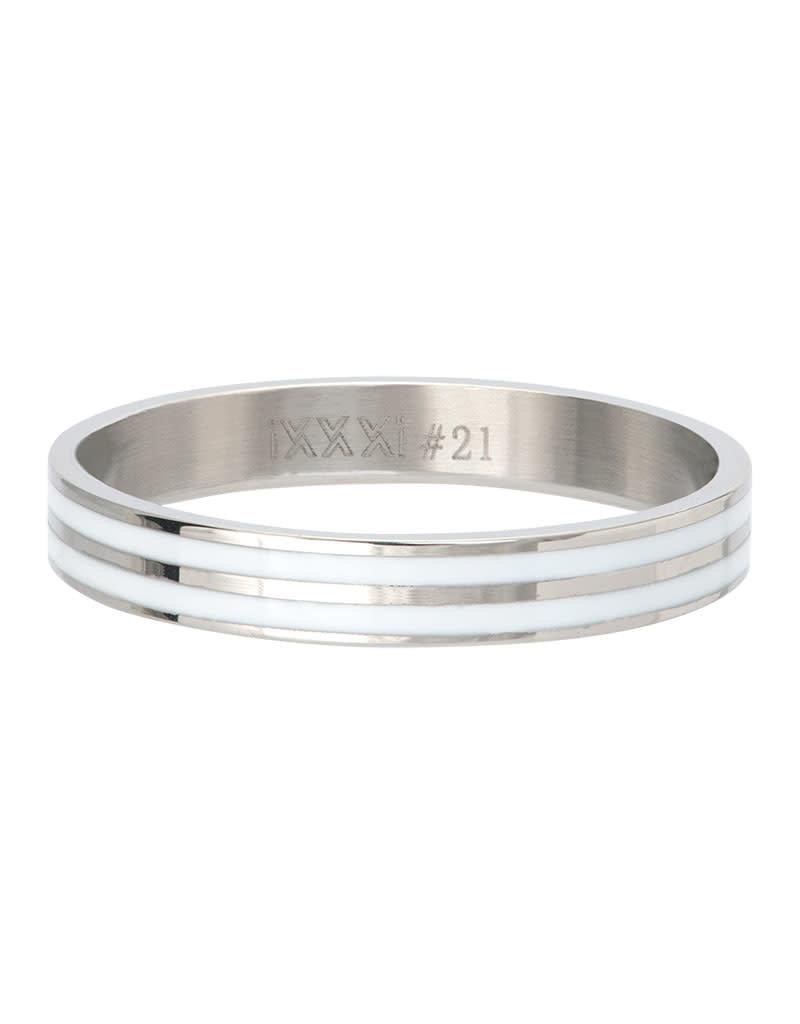 iXXXi R05301-03 21 Ring Double Line white
