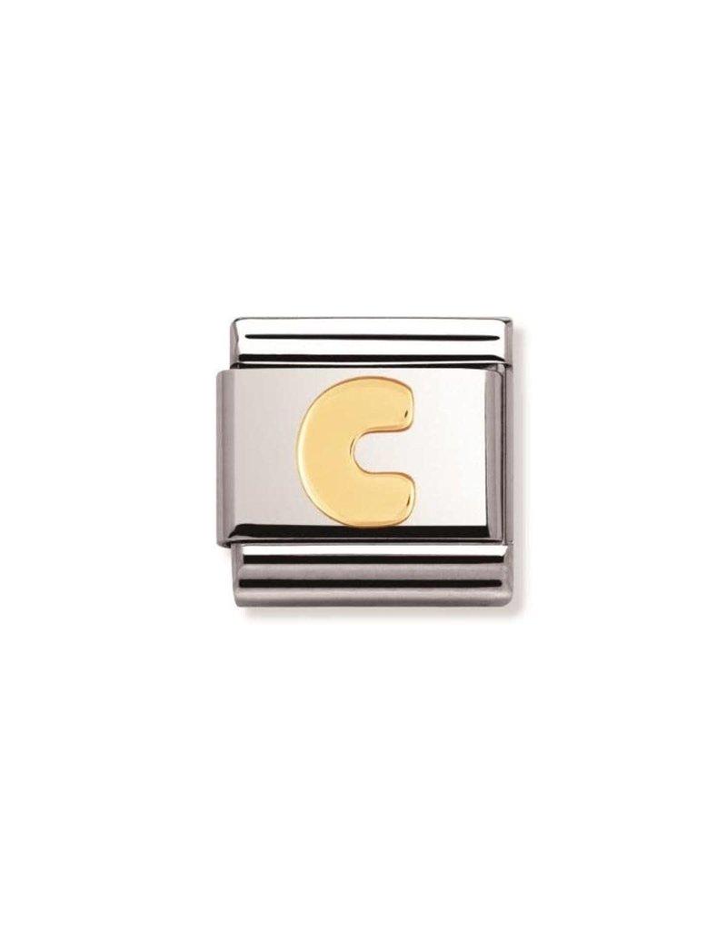 Nomination Composable 030101-03 Nomination Classic Letter C goud
