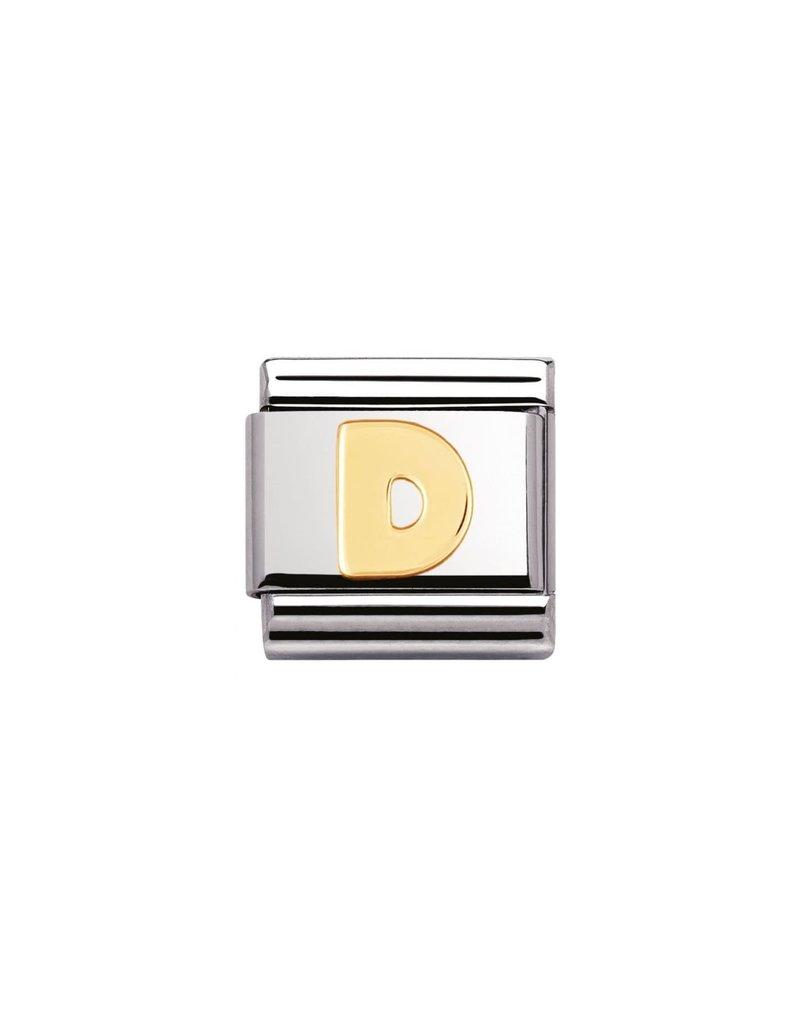 Nomination Composable 030101-04 Nomination Classic letter D goud