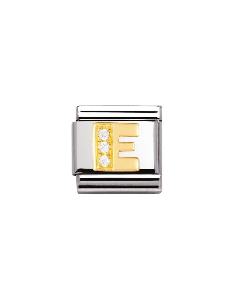 Nomination Composable 030301-05 Nomination Classic letter E met zirconia