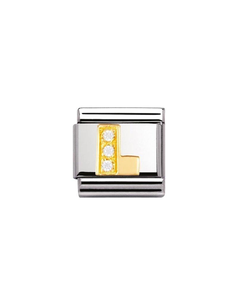 Nomination Composable 030301-12 Nomination Classic letter L met zirconia