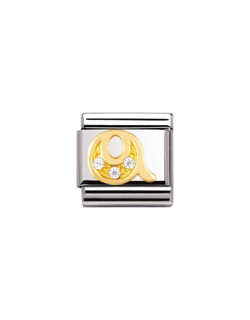 Nomination Composable 030301-17 Nomination Classic letterQ met zirconia