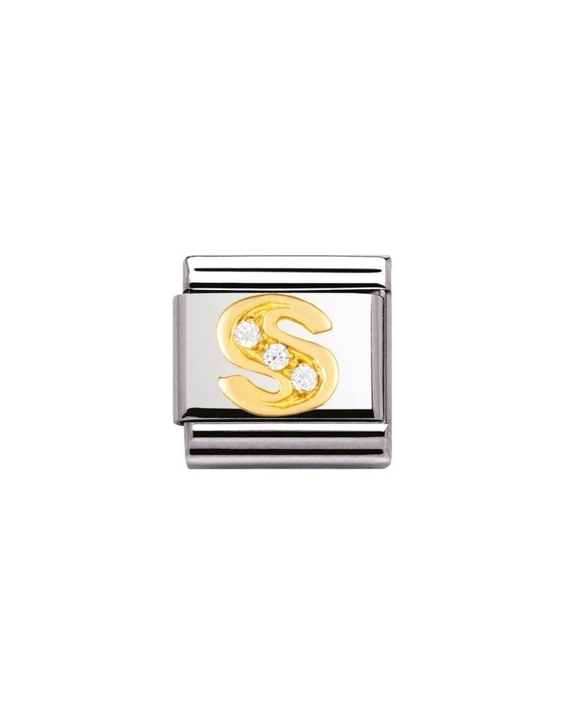 Nomination Composable 030301-19 Nomination Classic letter S met zirconia