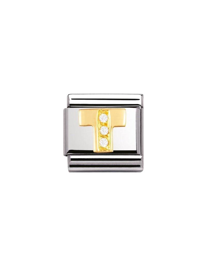 Nomination Composable 030301-20 Nomination Classic letter T met zirconia
