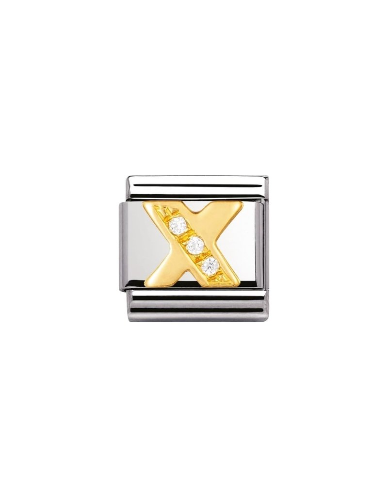Nomination Composable 030301-24 Nomintion Classic letter X met zirconia
