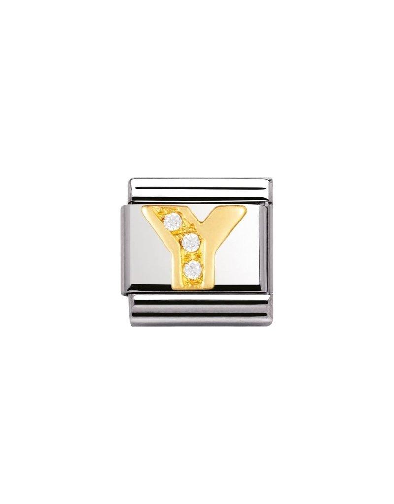 Nomination Composable 030301-25 Nomination Classic letter Y met zirconia
